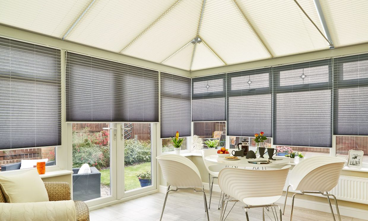 Crush Charcoal conservatory blinds