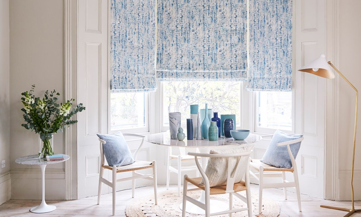 Mirage Ink roman blinds