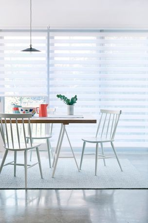 Diffuse White Enlight Blinds in dining room