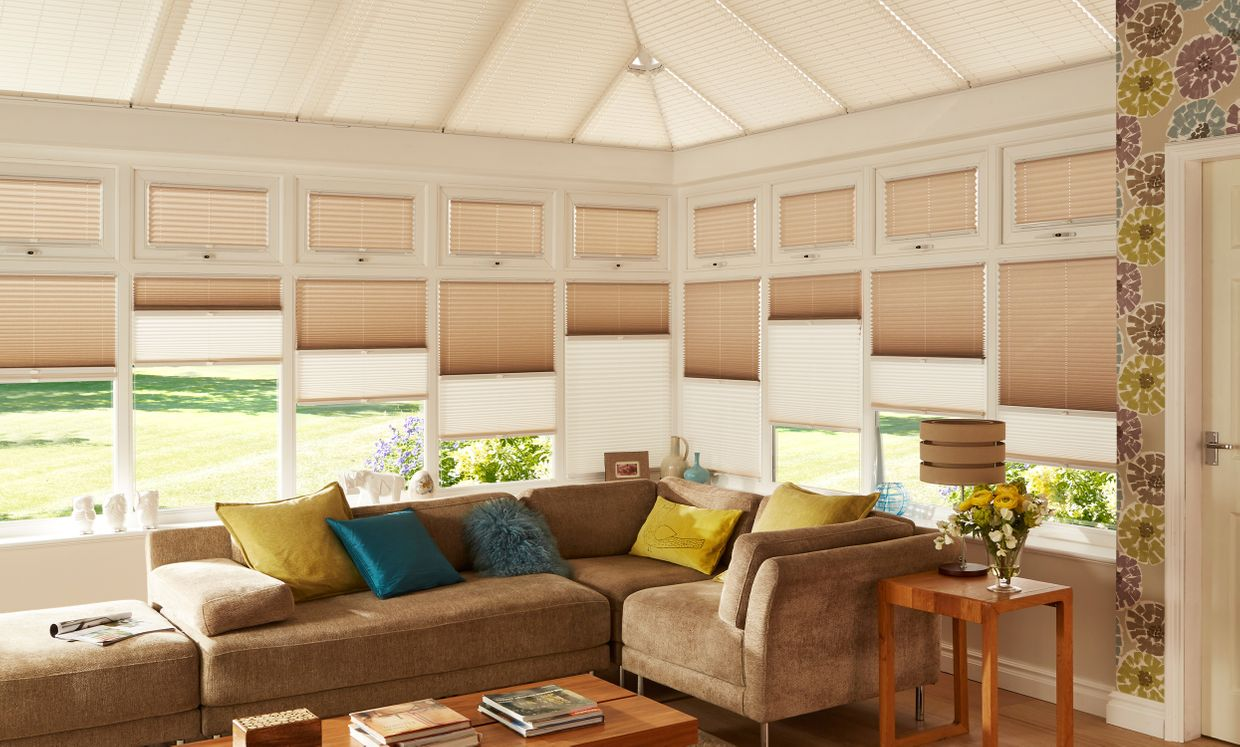 Elba Cream and Fontwell Natural Day and Night blinds