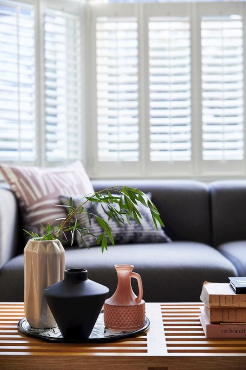 Richmond White tier-on-tier shutters in living room