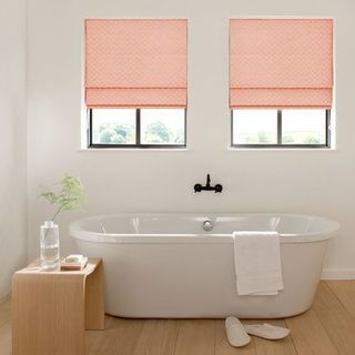 Roman Blind_Horizon Salmon_Roomset