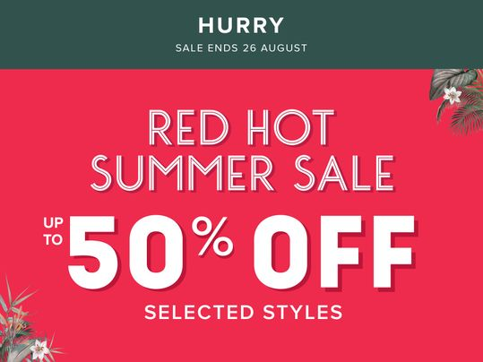 hurry red hot sale up to 50% off ends soon