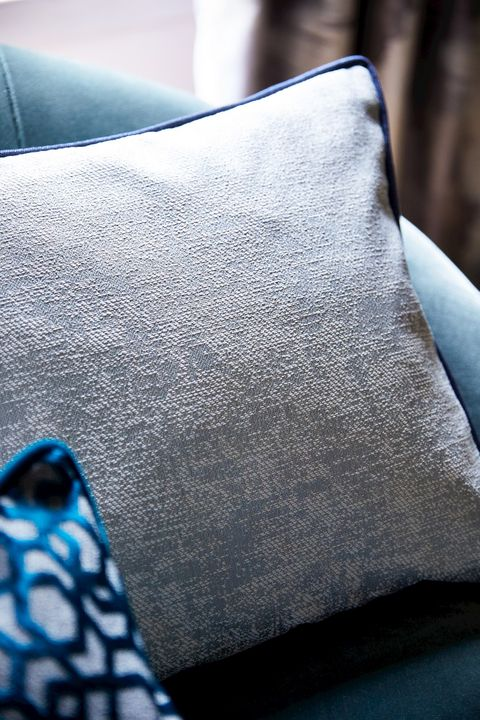 Close up detail of cushions in the Mercury collection
