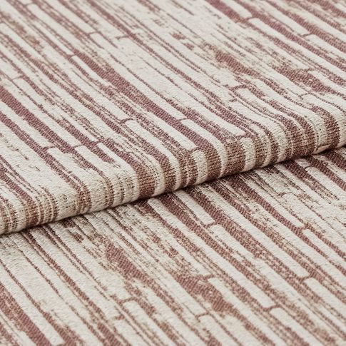 Cream layered with stripes of red that makes the material look textured