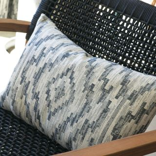 Cushion in Alto Deep Indigo fabric