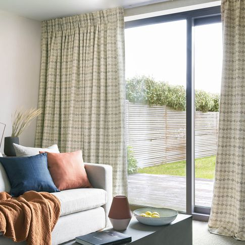 Delphic Linen	 curtains in living room