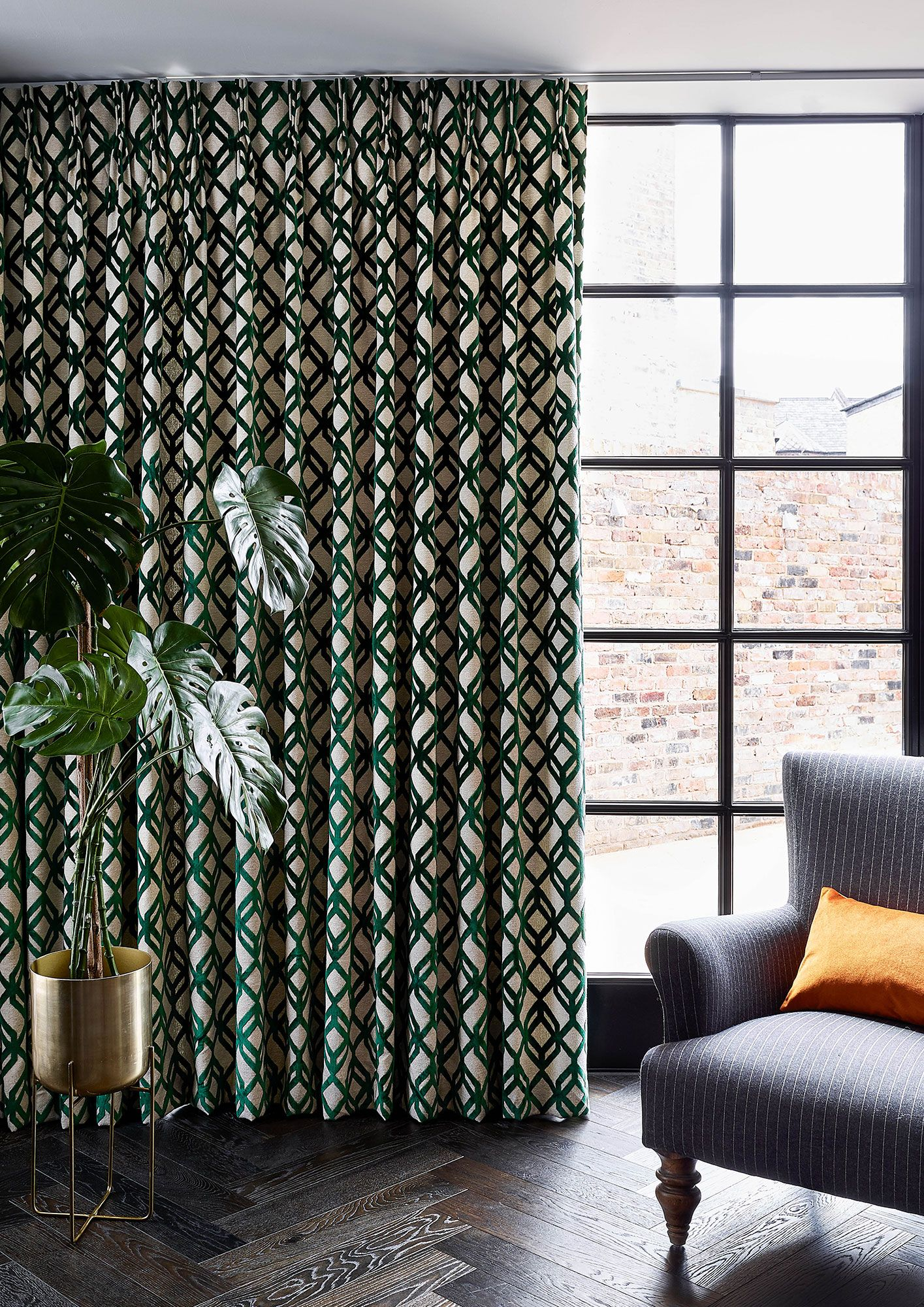 Geometric Curtain Fabrics Browse By Style