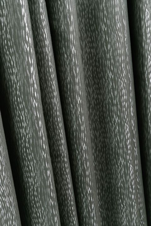 Close up detail of Daze Silver curtains