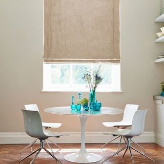 Roman Blind_Opulence Latte Cream_Roomset