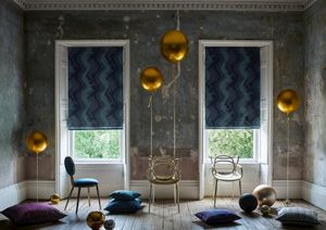 Mercury collection roman blinds in lunar shadow