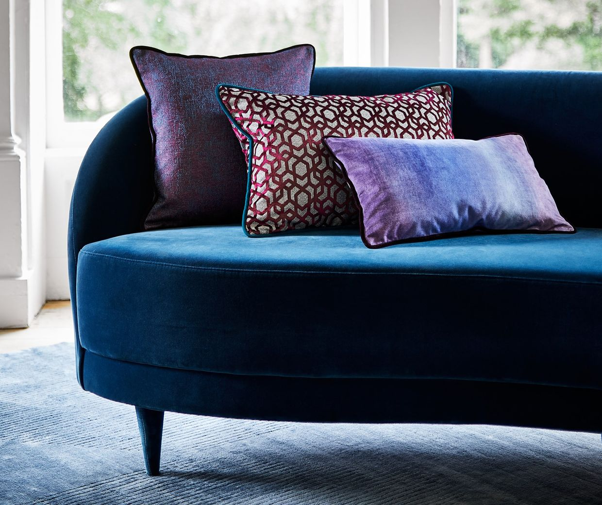 Mercury custom cushion covers in various special fabrics