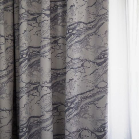 mercury capsule collection onyx marble curtains with astro grey voile curtains