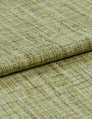 Green fabric with woven detail
