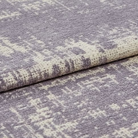 White coloured fabric that has a textured layer in a lilac tone