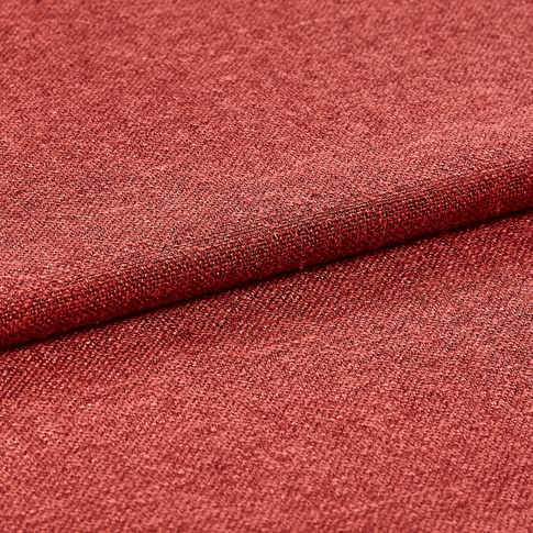 Bright red fabric that is folded over
