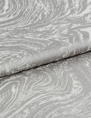 Light grey and white in a repeating swirling pattern that resembles stone