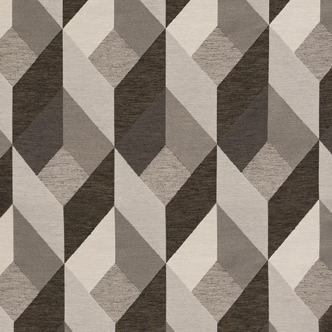 An image of the fragment monochrome swatch showing its repeating geometric pattern in different neutral colours