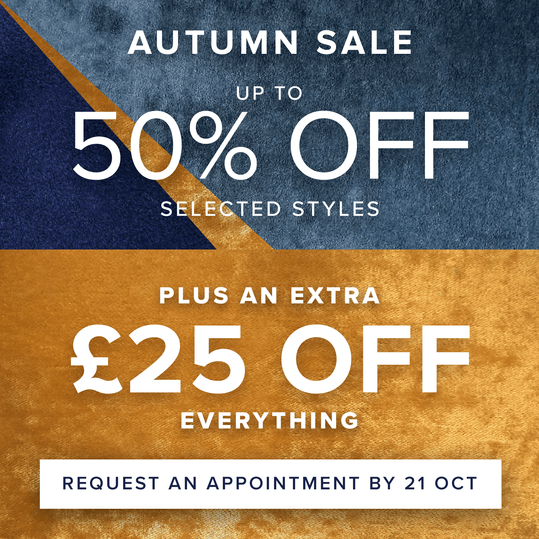 up to 50% off selected styles plus an extra £25 off