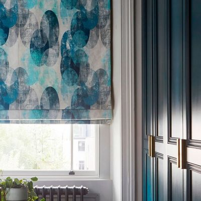 house beautiful reflection roman blind