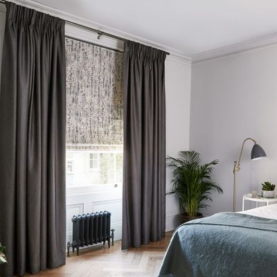 house beautiful curtains and roman blinds