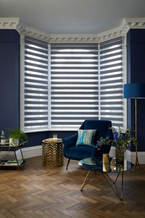 Day & Night blinds in Nightfall Slate Grey in living room