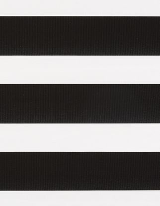 Horizontal stripes of black and white which repeat