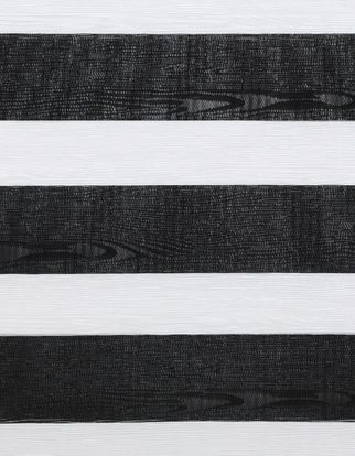 Black and white striped swatch of daybreak black