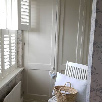 White tier on tier shutters