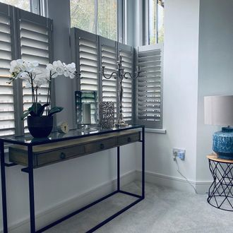 metallic grey shutters