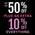 Black friday 50% off selected styles plus 10% off everything ends 2nd december
