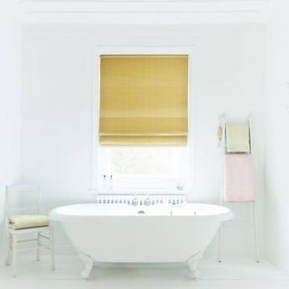 Roman Blind_Clarence Chartreuse_Roomset