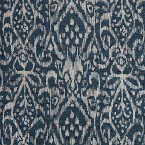 Indigo color fabri swatch featuring some pattern with boho style in living etc range