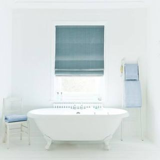 Roman Blind_Clarence Teal_Roomset