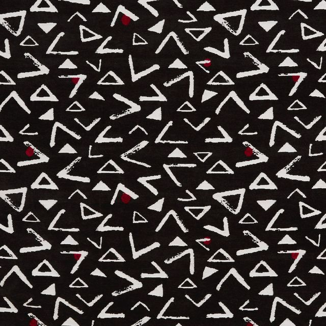 Black fabric with retro print in living etc range