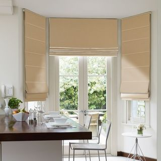 Roman Blind_Harlow Taupe_Roomset