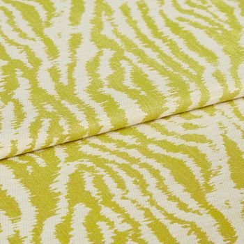 Cream background citrine patterned fabric swatch in living etc campaign