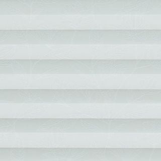 light blue swatch featuring leaf prints  for pleated blinds