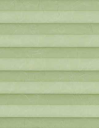 Green textured  swatch for pleated blinds