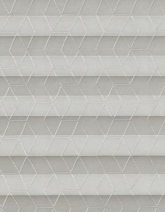 silver geometric patterned  swatch for pleated blinds