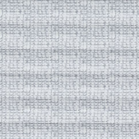 Grey square patterned swatch for pleated blinds