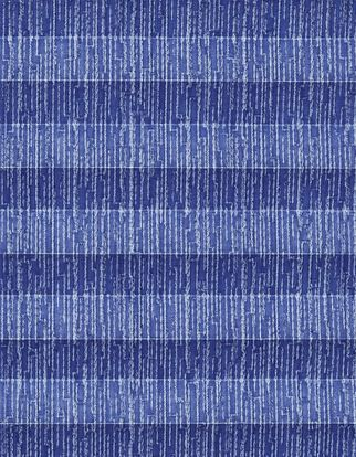 Royal blue and light grey patterned swatch for pleated blinds