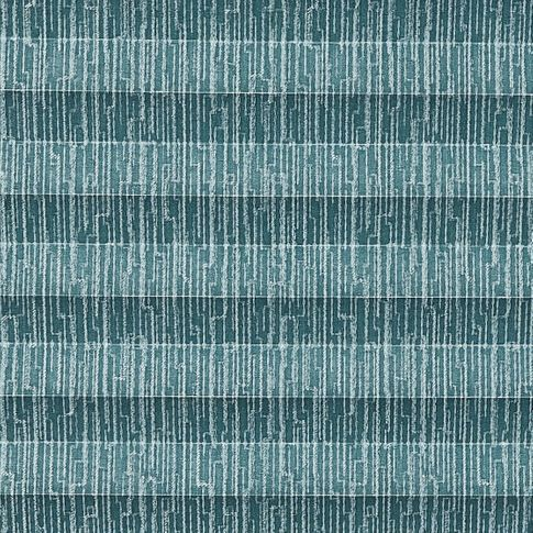 Green and light grey patterned  swatch for pleated blinds