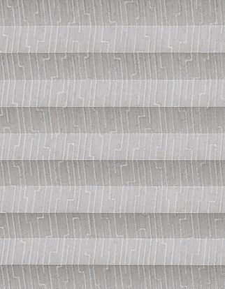 Silver and grey patterened  swatch for pleated blinds