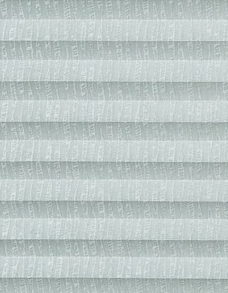Silver swatch  for pleated blinds featuring ribbon print