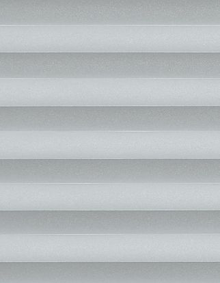 Silver plain swatch for pleated blinds