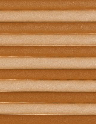 Copper gold swatch for pleated blinds