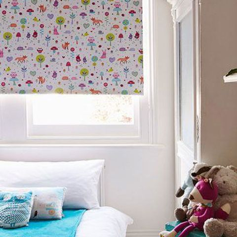 Roller Blind_Woodland Pink_Childrens Room