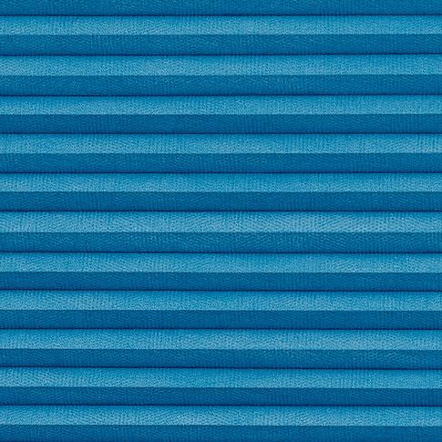 Thermashade blackout blue swatch for pleated blinds