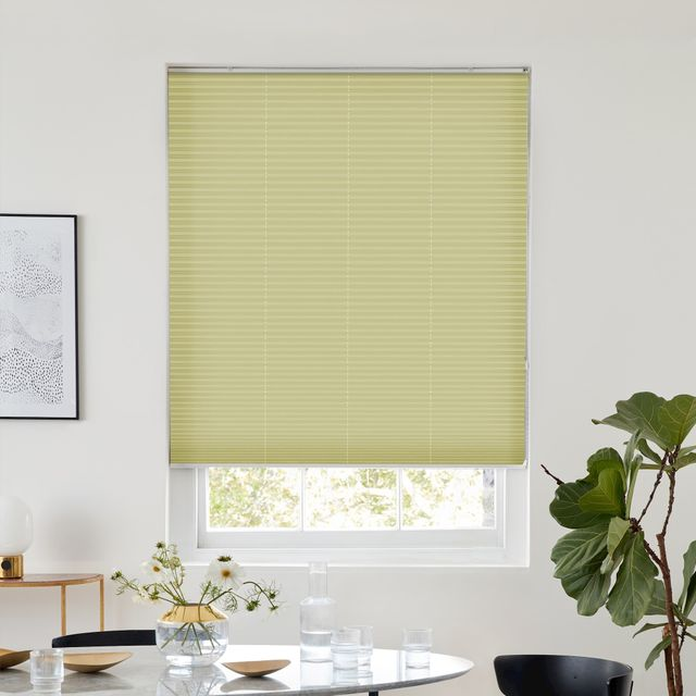 Thermashade blackout cream pleated blind dressed on window